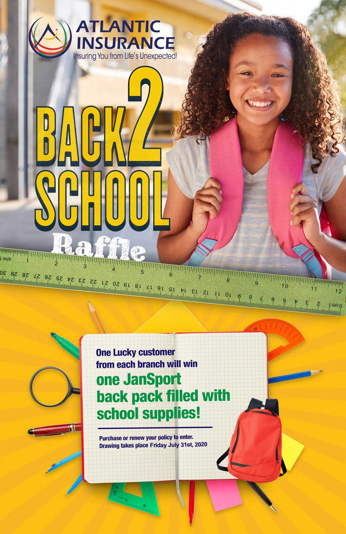 Atlantic Insurance Back To School Raffle